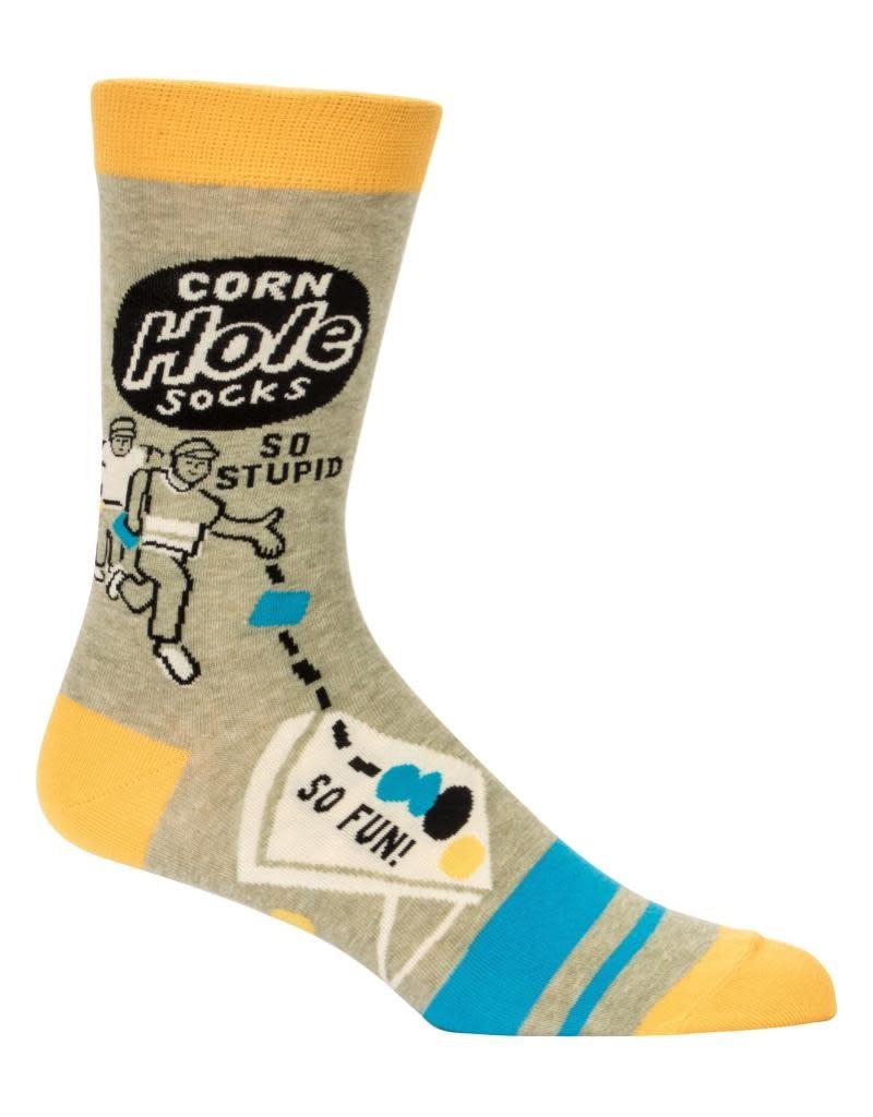 Blue Q Corn Hole Men's Crew Socks
