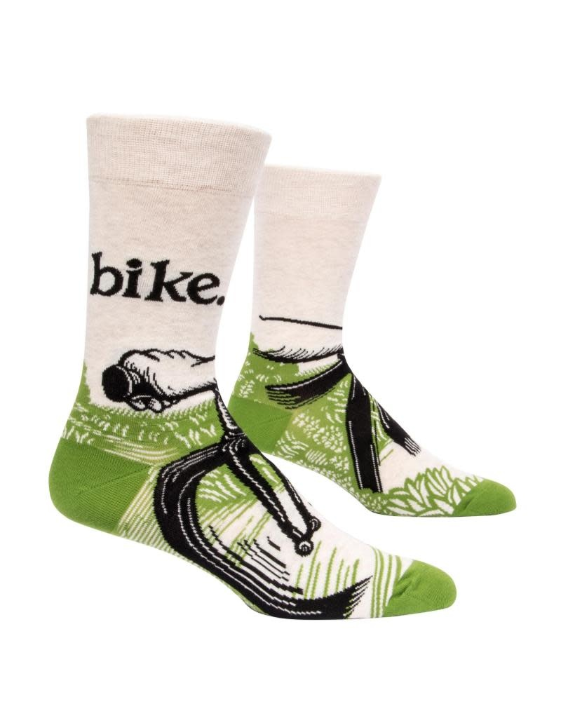 Blue Q Bike Path Men's Crew Socks