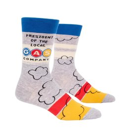 Blue Q President of the Local Gas Company Men's Crew Socks