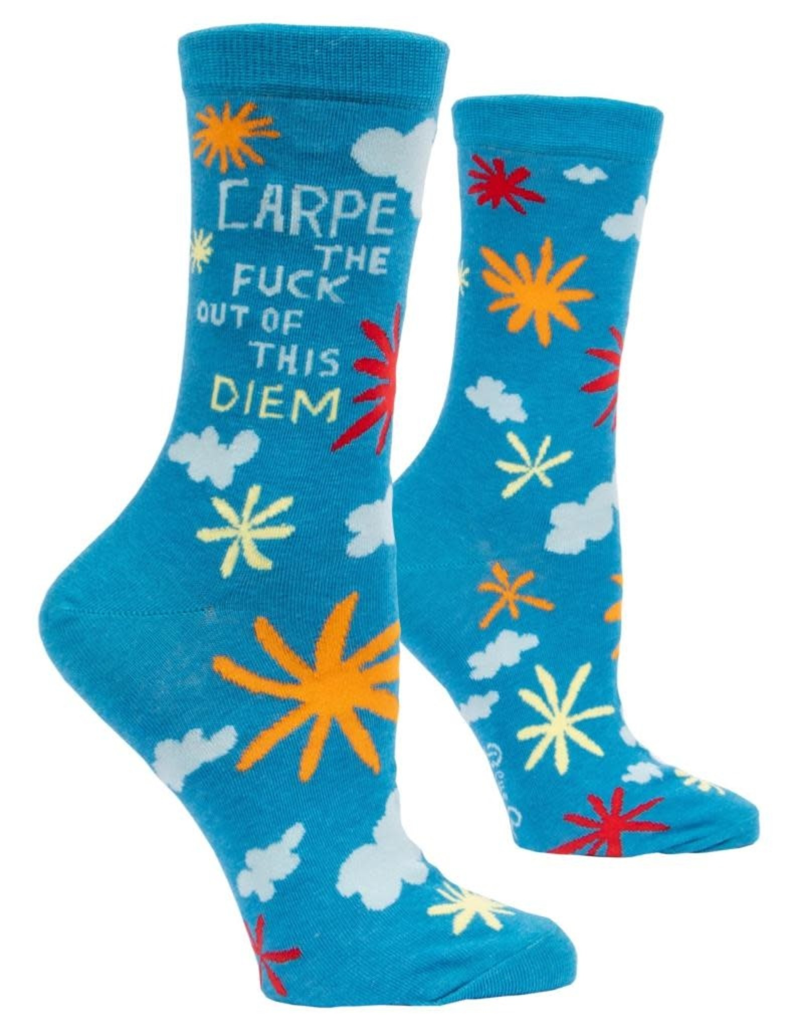Blue Q Carpe the Fuck Out of This Diem Women's Crew Socks