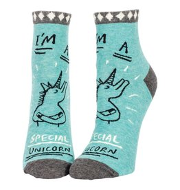 Blue Q I'm A Special Unicorn Women's Ankle Socks