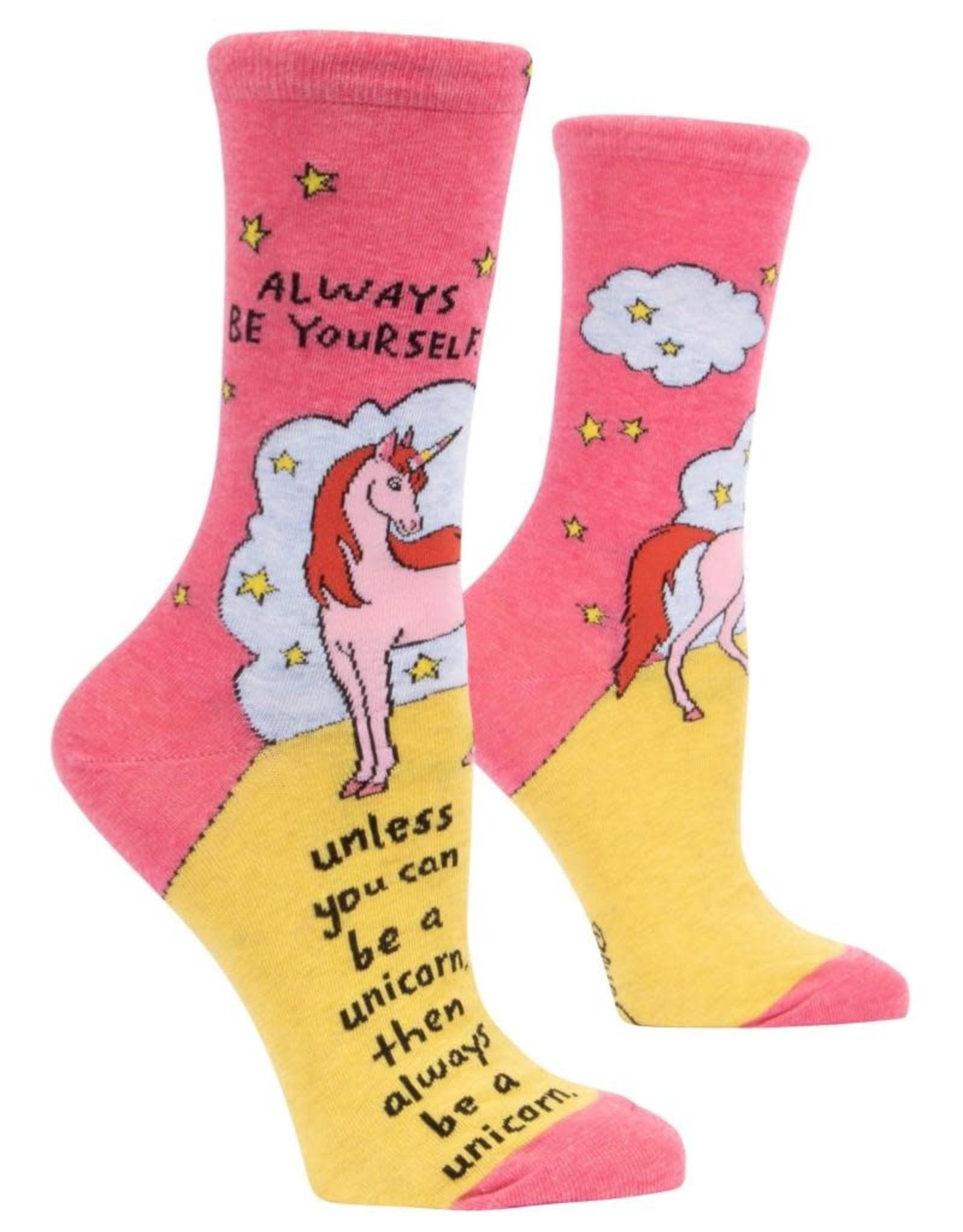 Blue Q Always Be A Unicorn Women's Crew Socks