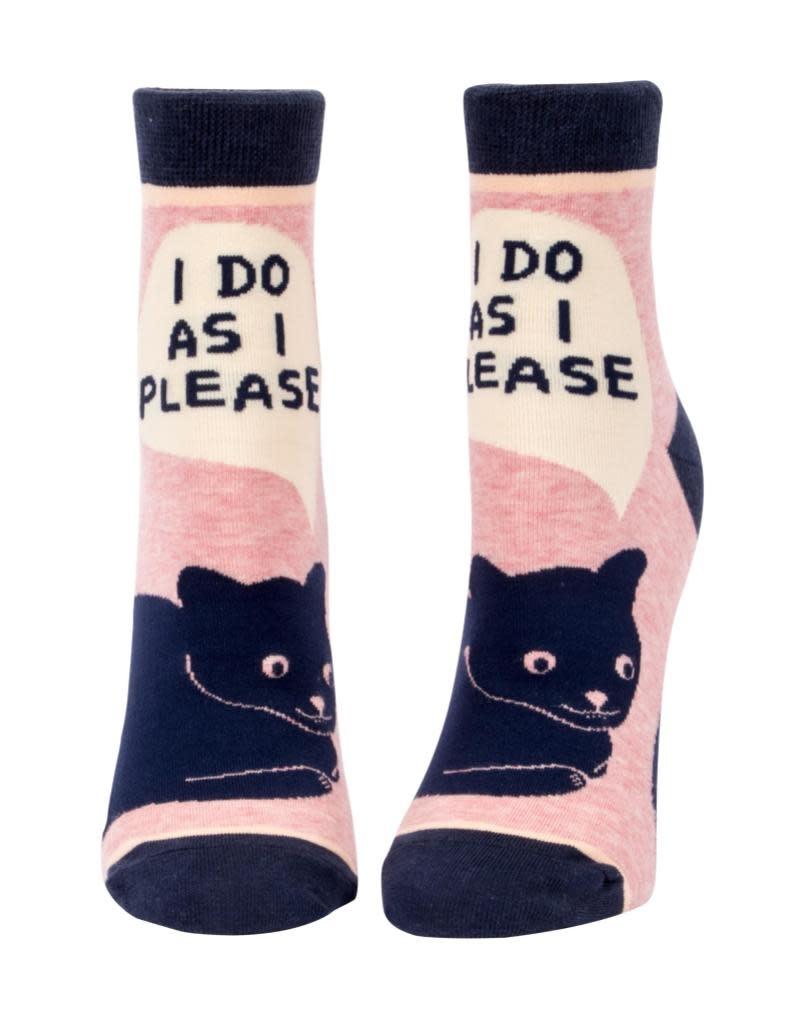Blue Q I Do As I Please Women's Ankle Socks