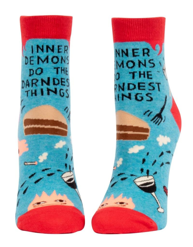 Blue Q Inner Demons Do the Darnedest Things Women's Ankle Socks