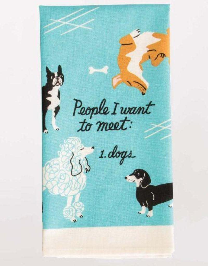 Blue Q People I Want To Meet:  Dogs Dishtowel