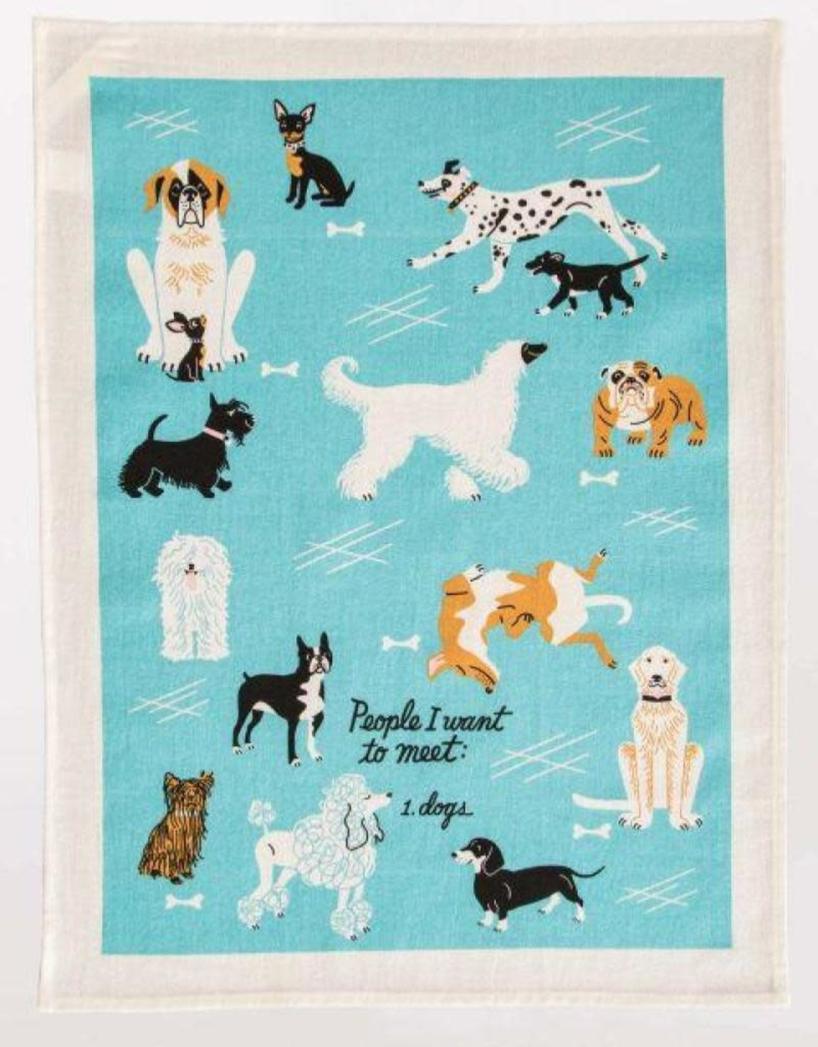 Blue Q People I Want To Meet:  Dogs Dishtowel
