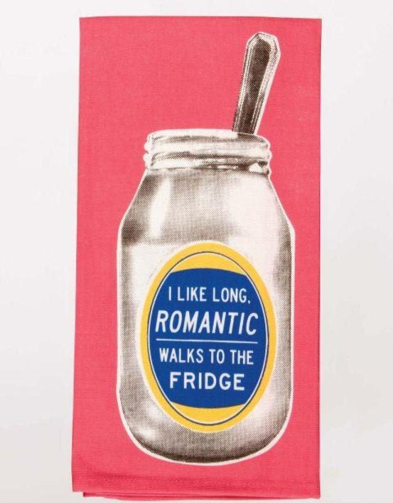 Blue Q I Like Long Romantic Walks to the Fridge Dishtowel