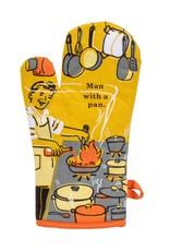 Blue Q Man with a Pan Oven Mitt