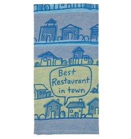 Blue Q Best Restaurant in Town Dishtowel