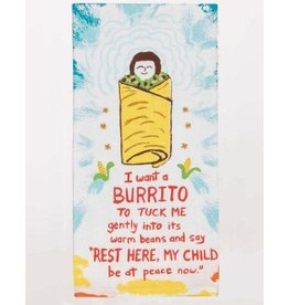 Blue Q I Want a Burrito Dishtowel