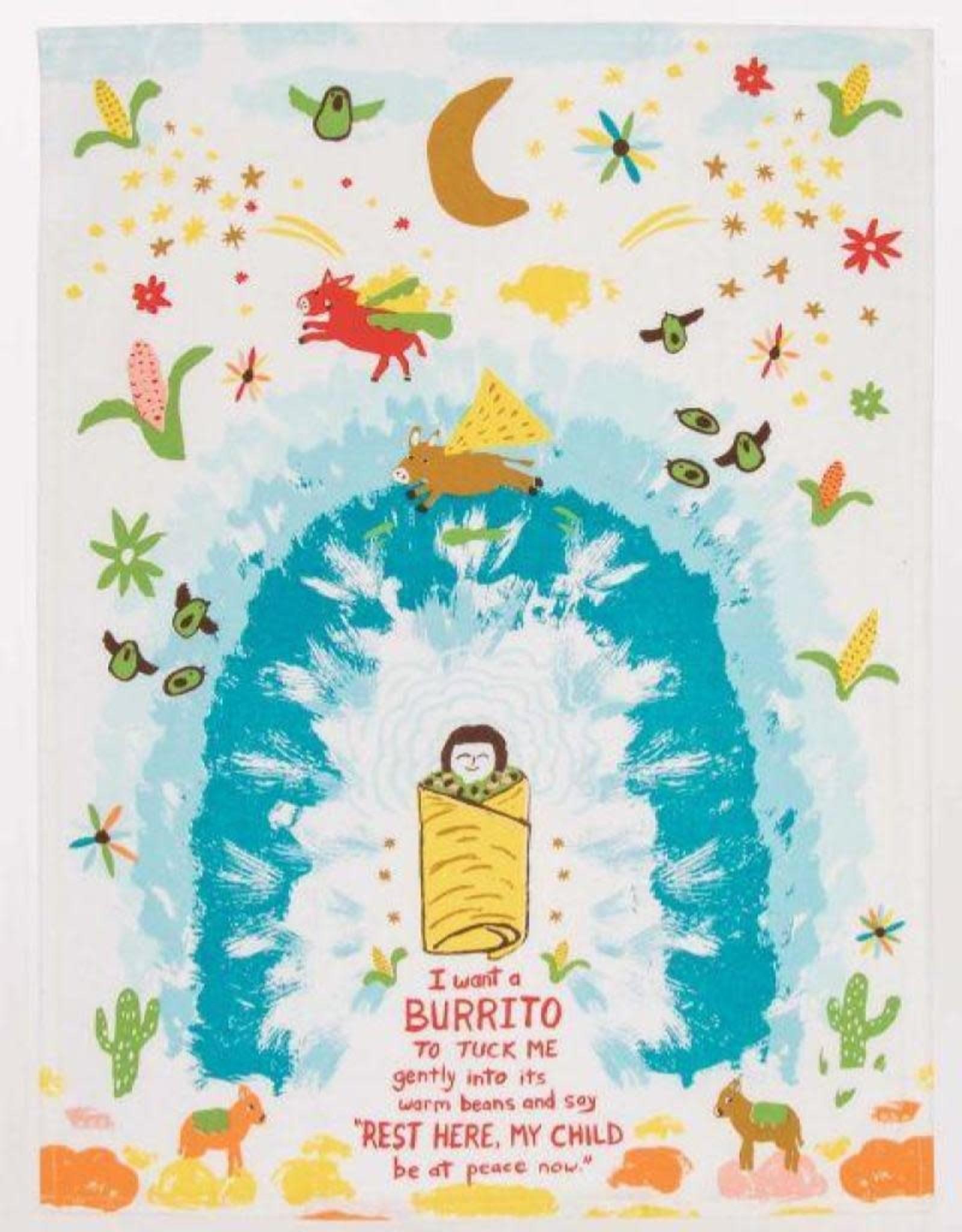 Blue Q I Want a Burrito Dishtowel