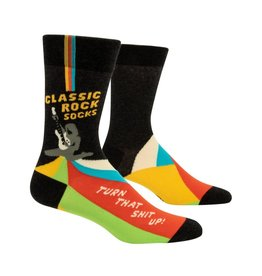 Blue Q Classic Rock Men's Crew Socks