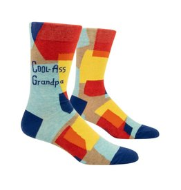 Blue Q Cool Ass Grandpa Men's Crew Socks