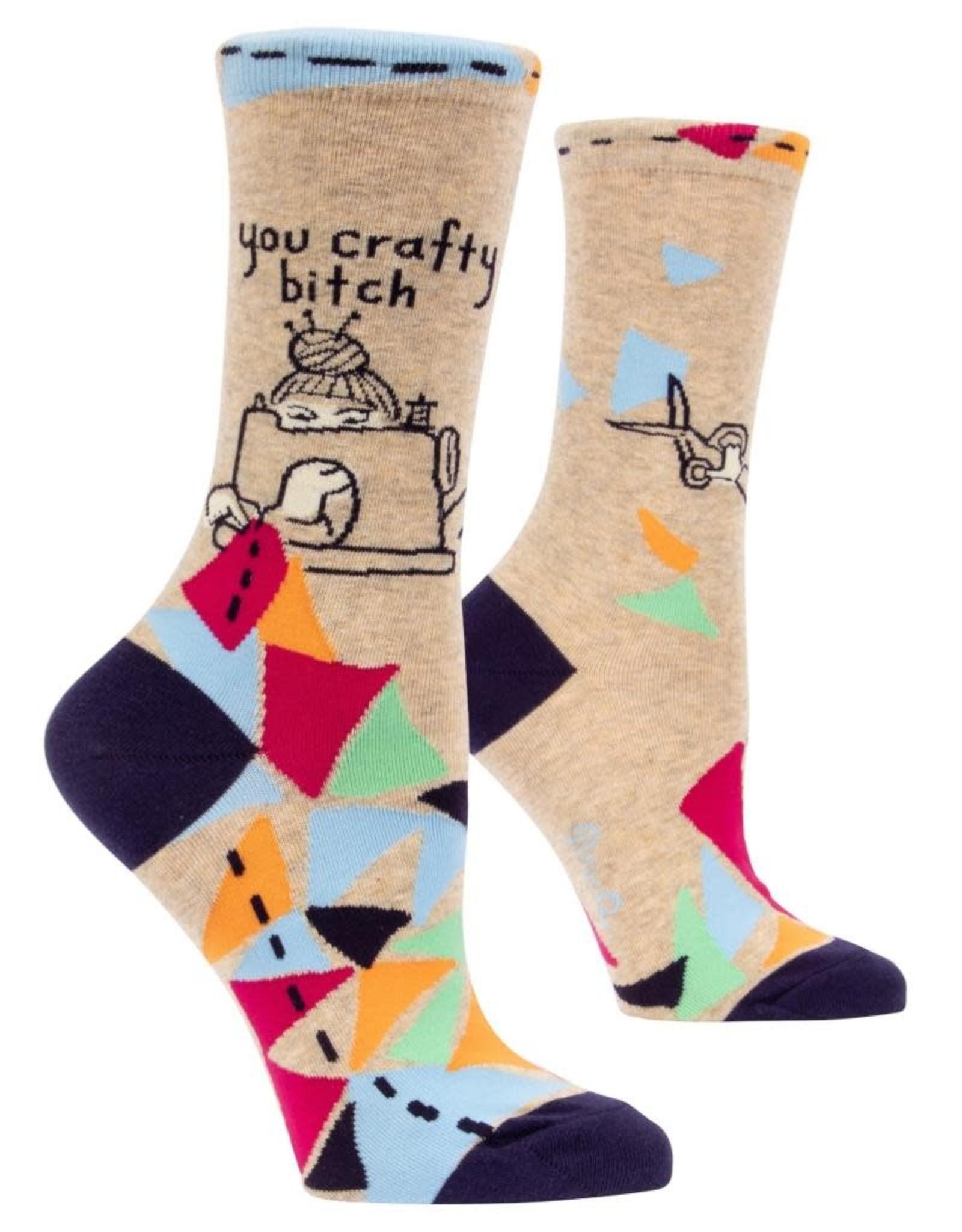 Blue Q You Crafty Bitch Women's Crew Socks