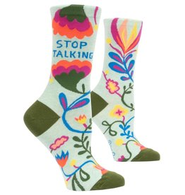 Blue Q Stop Talking Women's Crew Socks