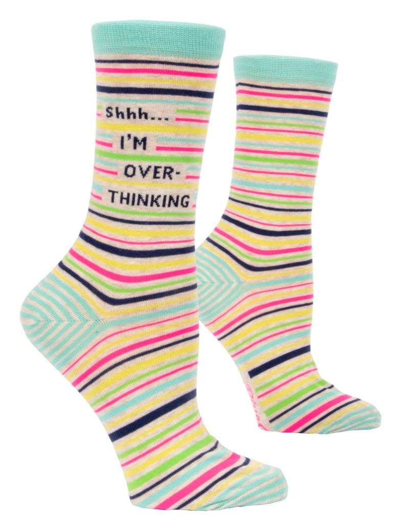 Blue Q Shh..I'm Overthinking Women's Crew Socks