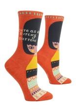 Blue Q Bitchy Button Women's Crew Socks