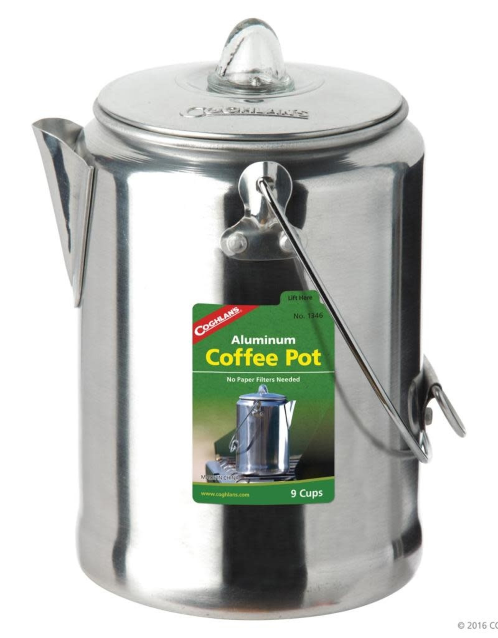 Coghlan's Aluminum Coffee Pot 9 Cup