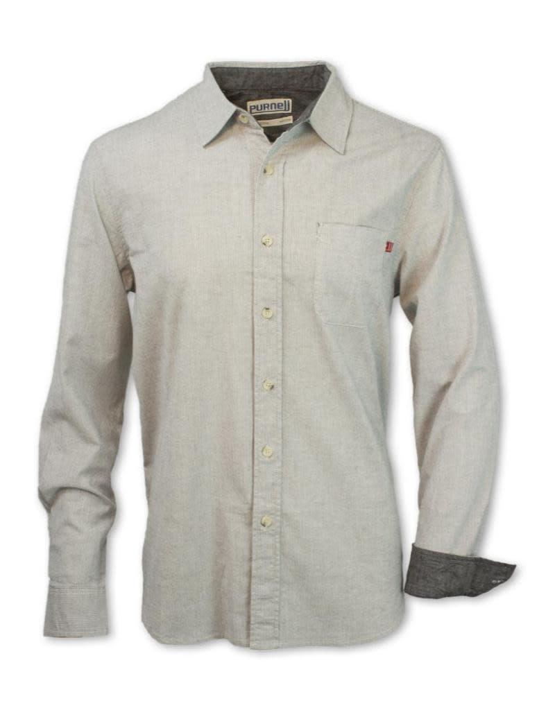 Purnell Men's Pinstripe Button-Up Shirt