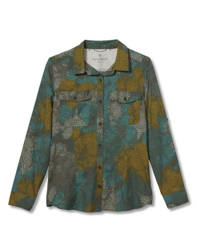 Royal Robbins Women's Expedition Print Long Sleeve Shirt