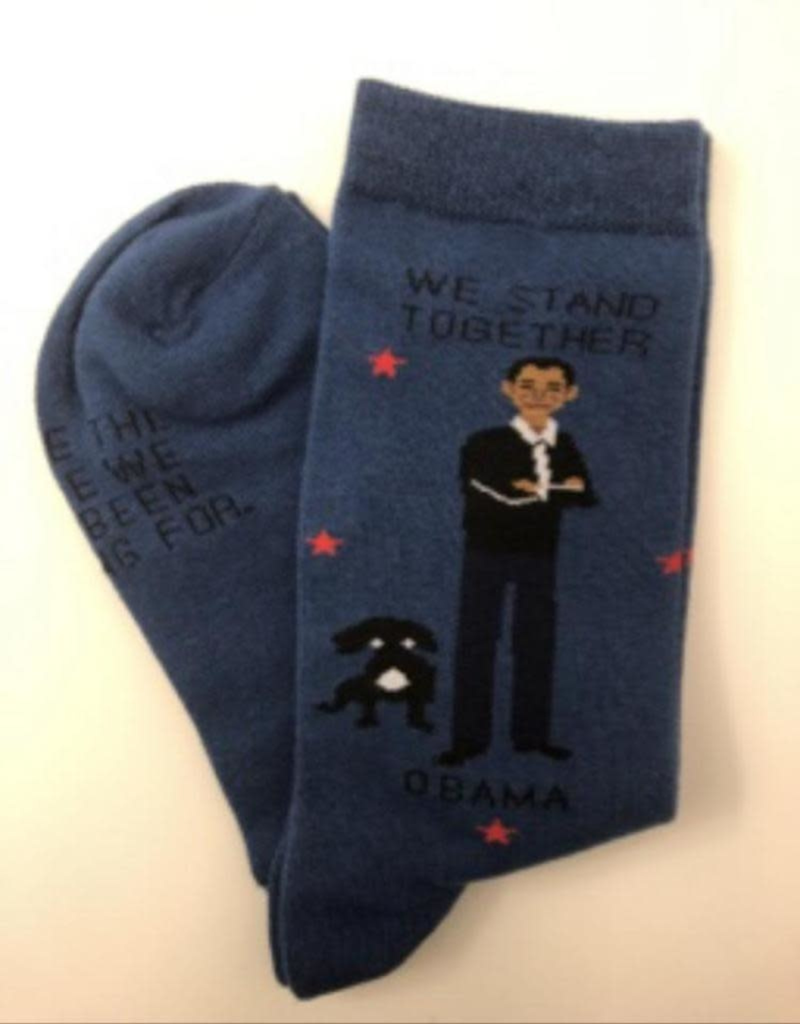 Maggie Stern Stitches Barak Obama Dream Women's Crew Socks