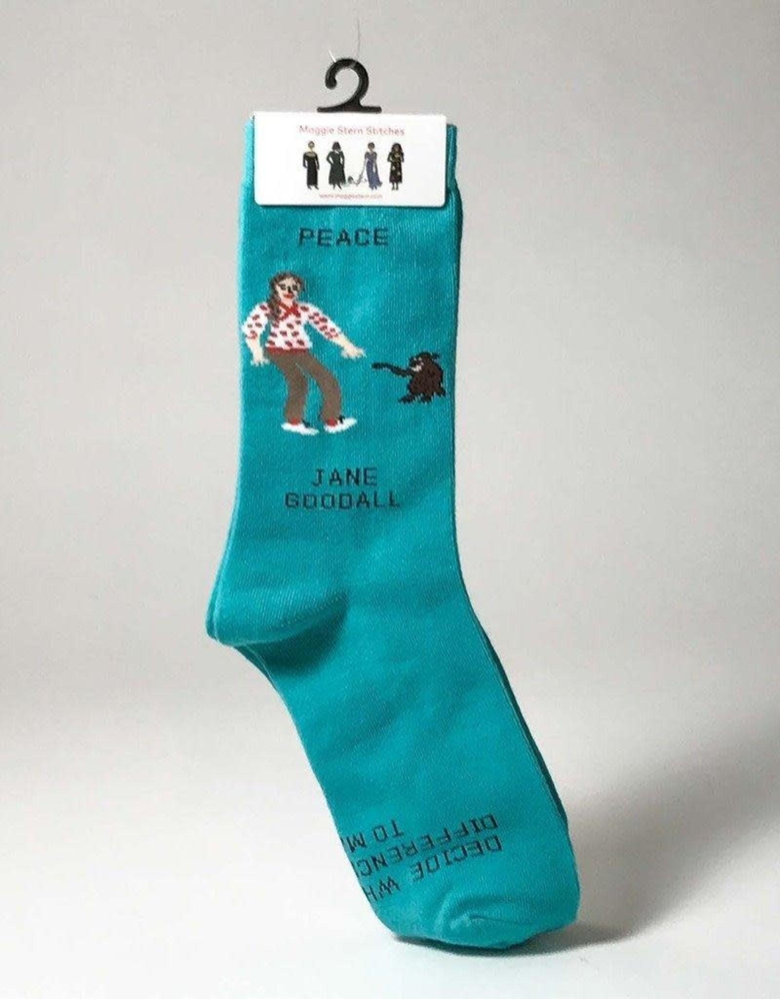 Maggie Stern Stitches Jane Goodall Women's Crew Socks