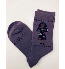 Maggie Stern Stitches Michelle Obama Women's Crew Socks