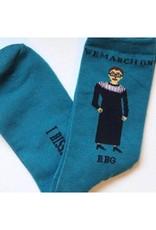 Maggie Stern Stitches Ruth Bader Ginsburg I Dissent Socks