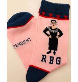 Maggie Stern Stitches Ruth Bader Ginsburg Pink Kid's Socks