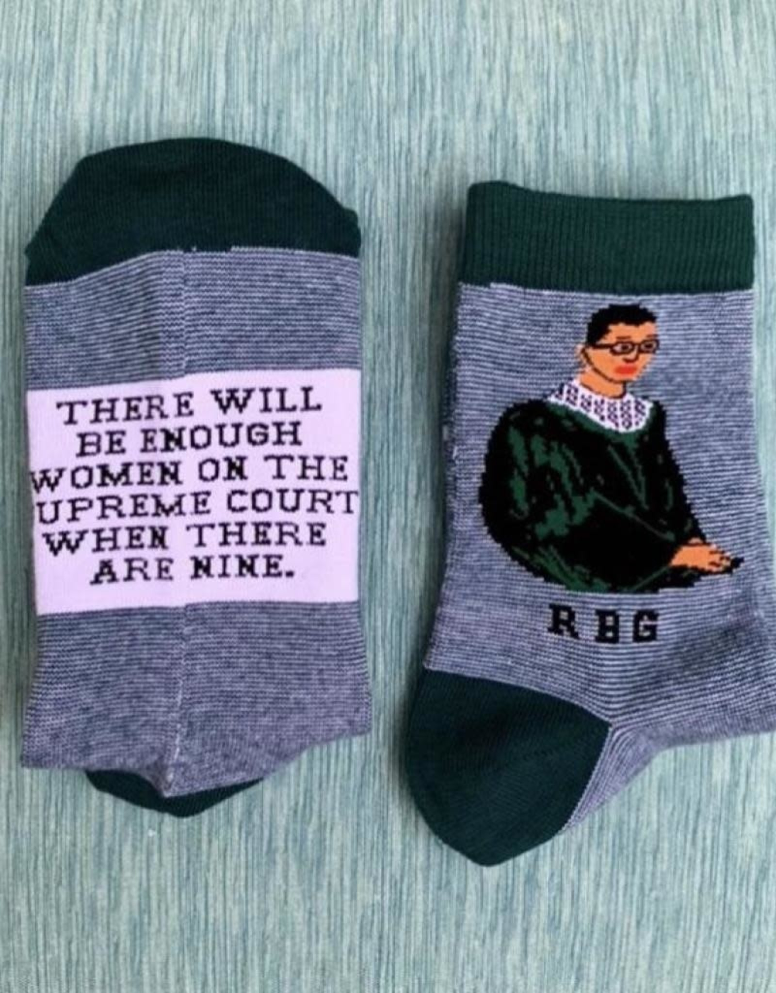 Maggie Stern Stitches Ruth Bader Ginsburg Striped Ankle Socks