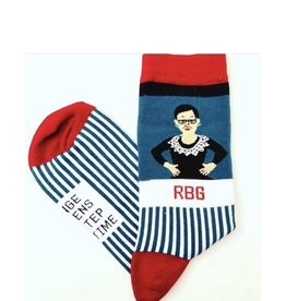 Maggie Stern Stitches Ruth Bader Ginsburg Striped Crew Socks