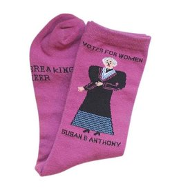 Maggie Stern Stitches Susan B Anthony Women's Crew Socks