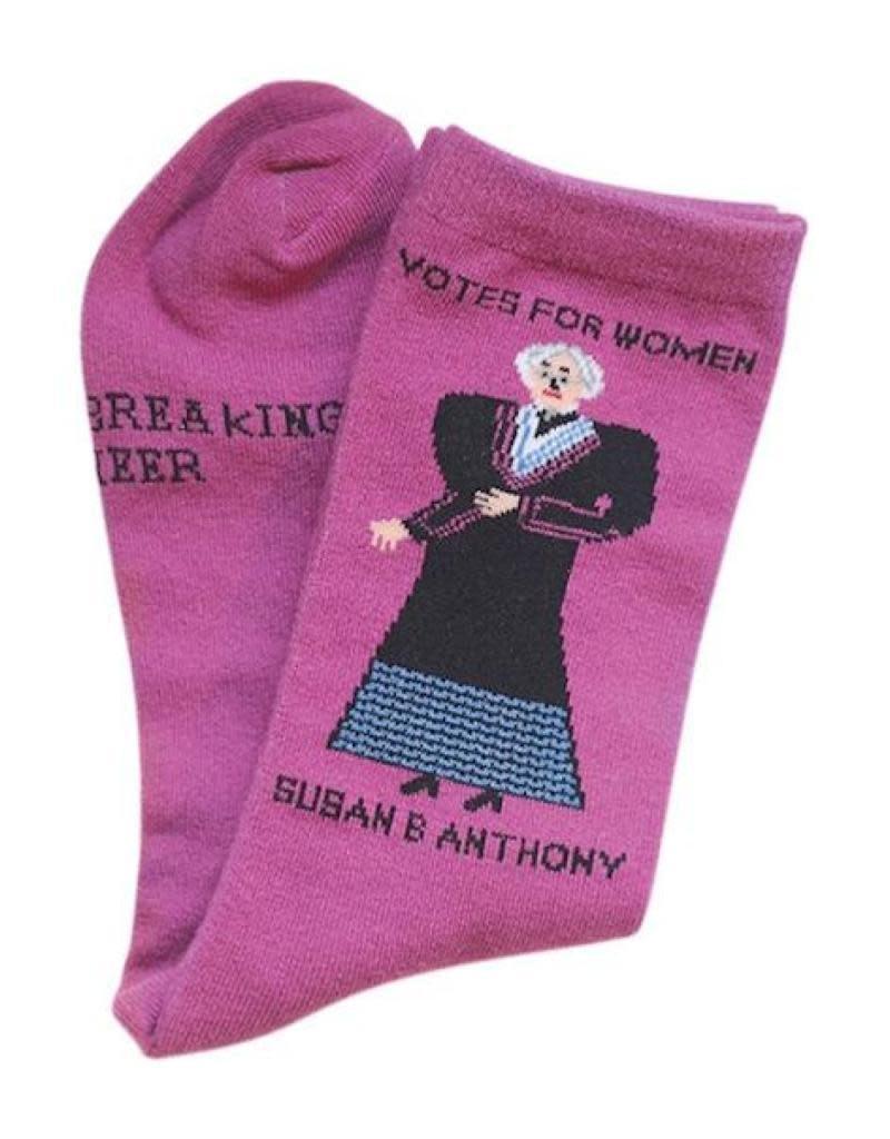 Maggie Stern Stitches Susan B Anthony Women's Crew Socks