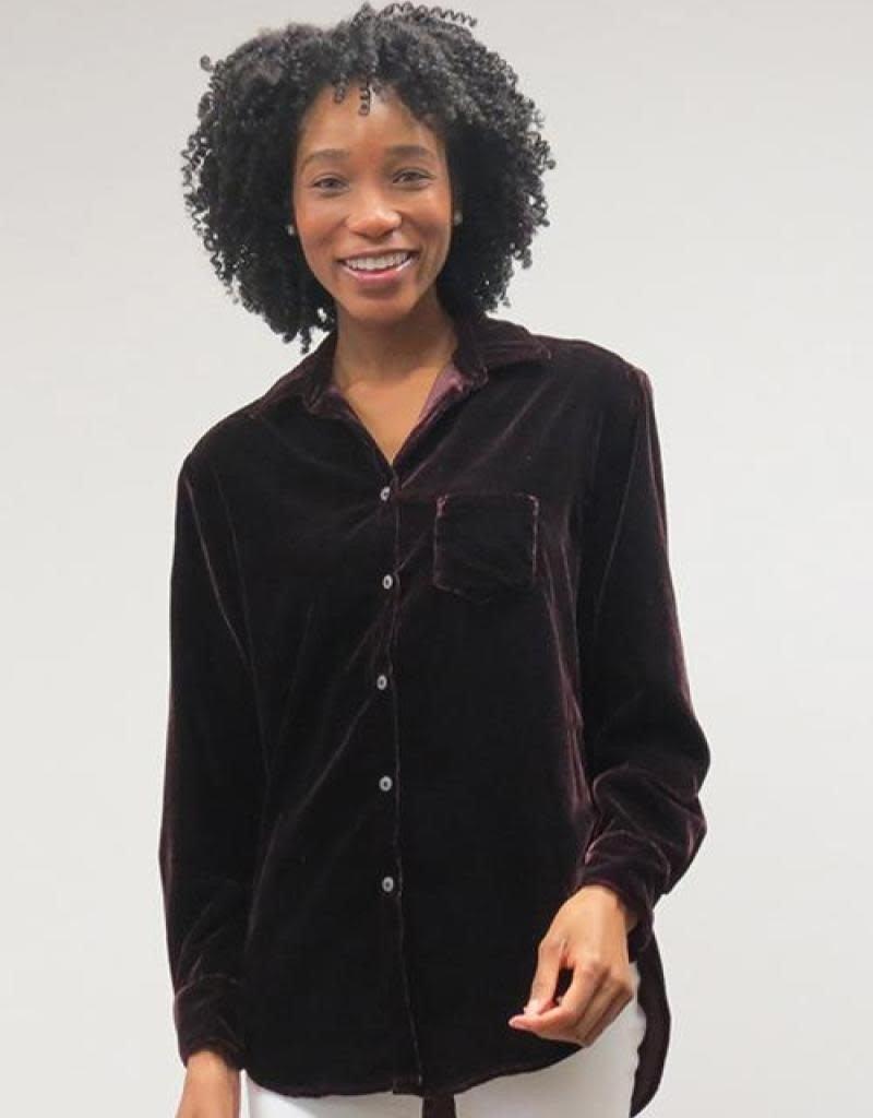 Kyla Seo Lana Velvet Shirt