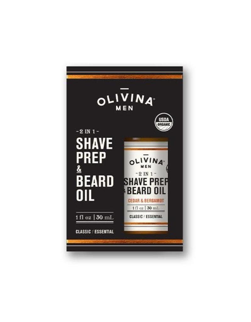 Olivina Men Shave Prep & Beard Oil