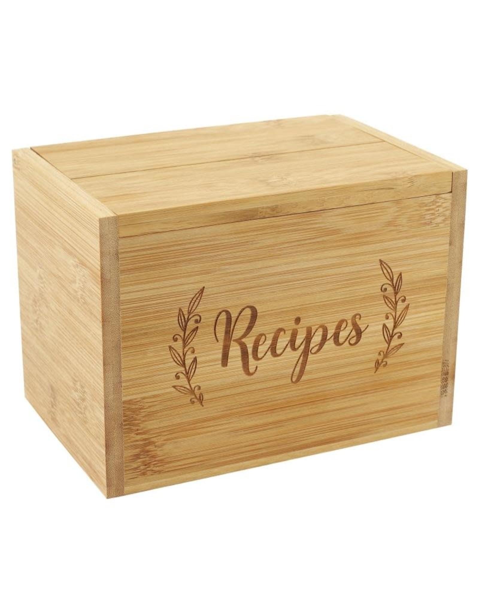 Peter Pauper Bamboo Recipe Box Set