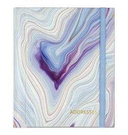 Peter Pauper Blue Agate Address Book