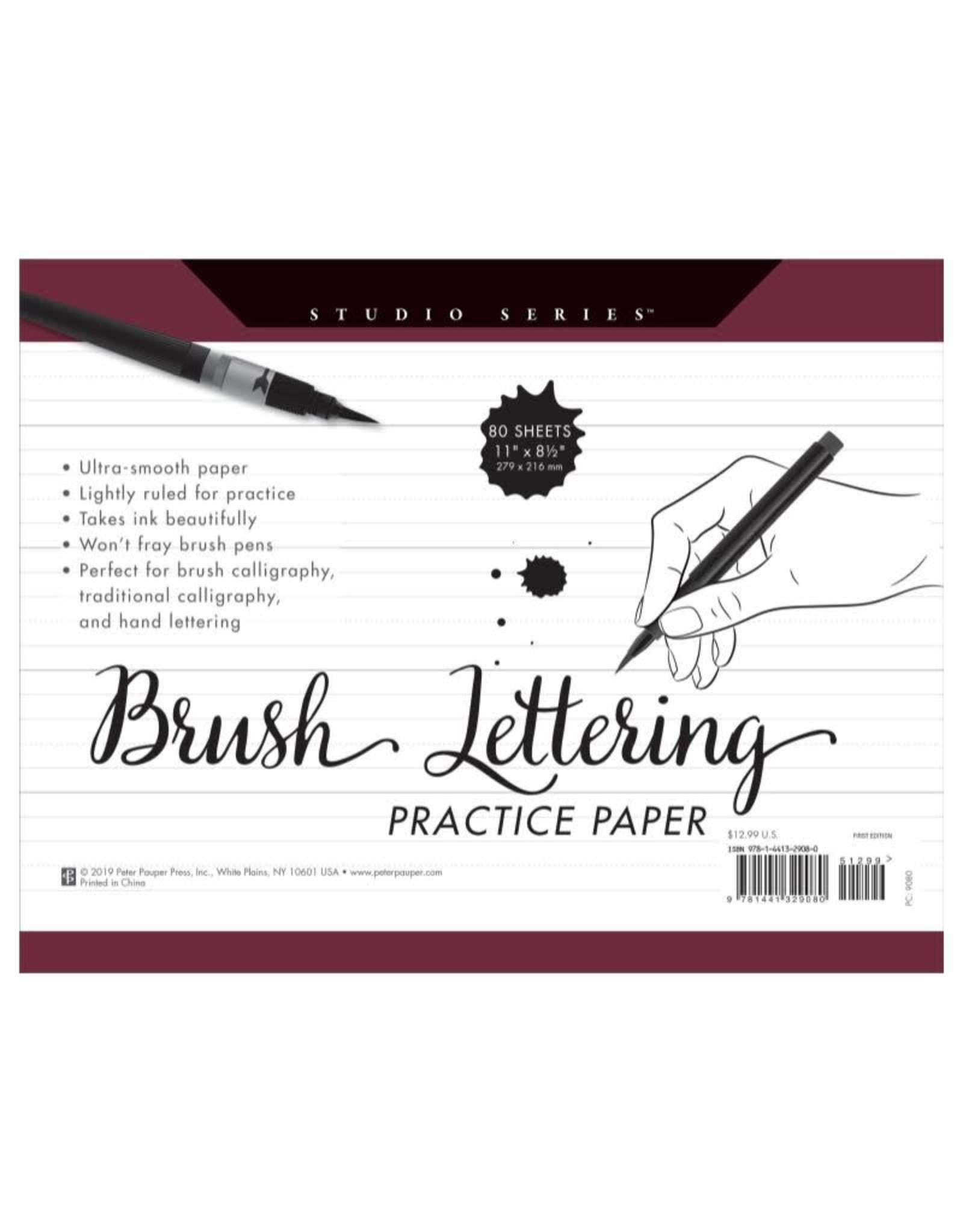 Peter Pauper Brush Lettering Practice Paper