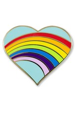 Peter Pauper Rainbow Heart Enamel Pin