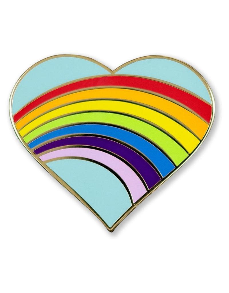 Peter Pauper Rainbow Heart Enamel Pin