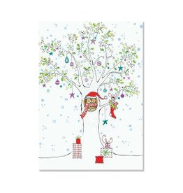 Peter Pauper Festive Owl Boxed Holiday Cards