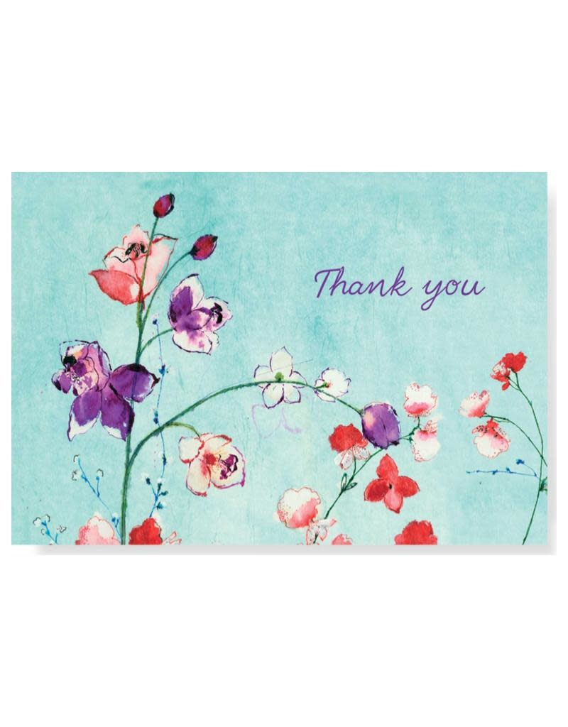 Peter Pauper Fuchsia Blooms Boxed Thank You Cards