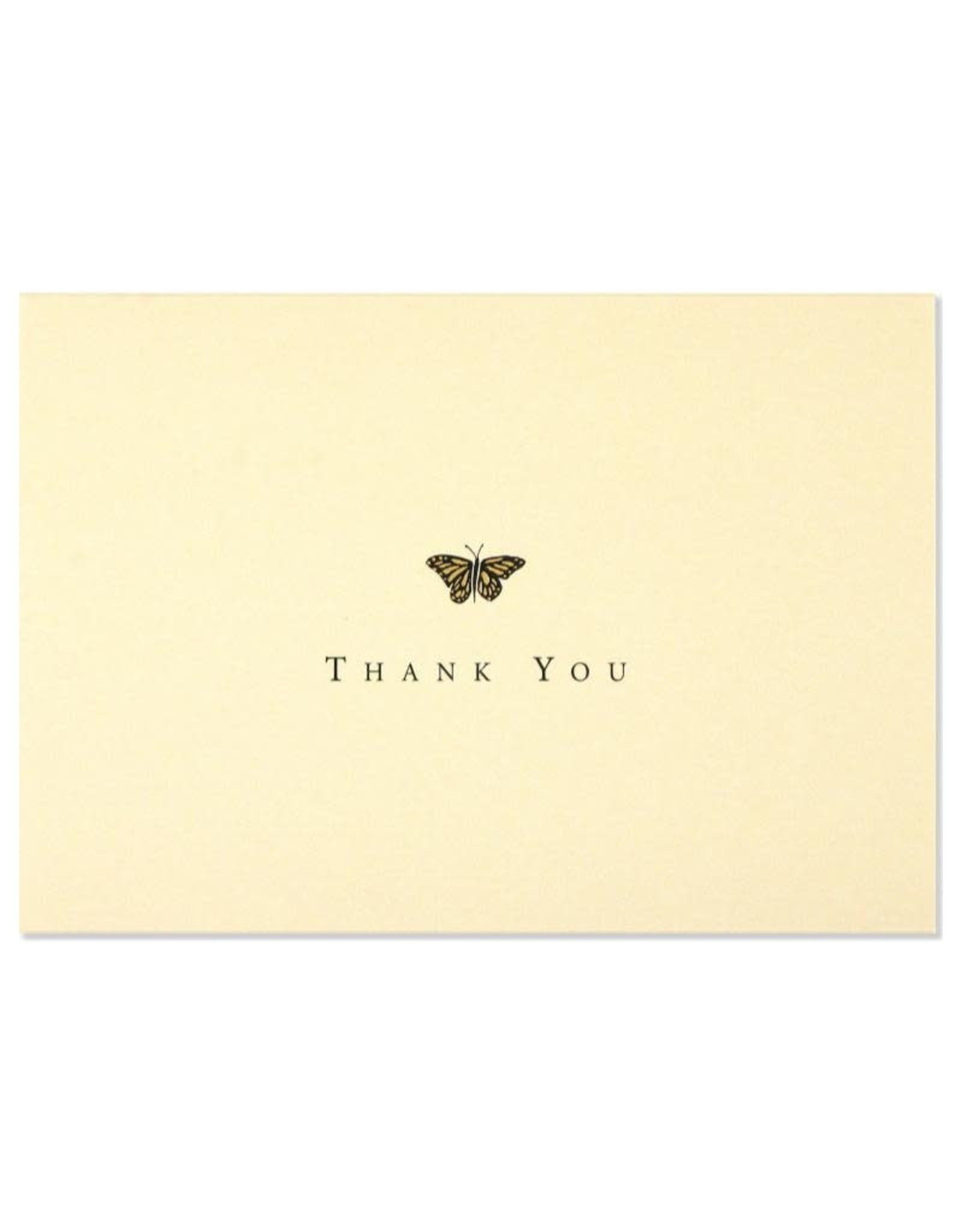 Peter Pauper Gold Butterfly Boxed Thank You Cards