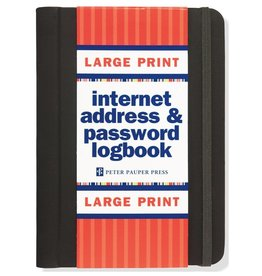 Peter Pauper Internet Address & Password Log, Large Print