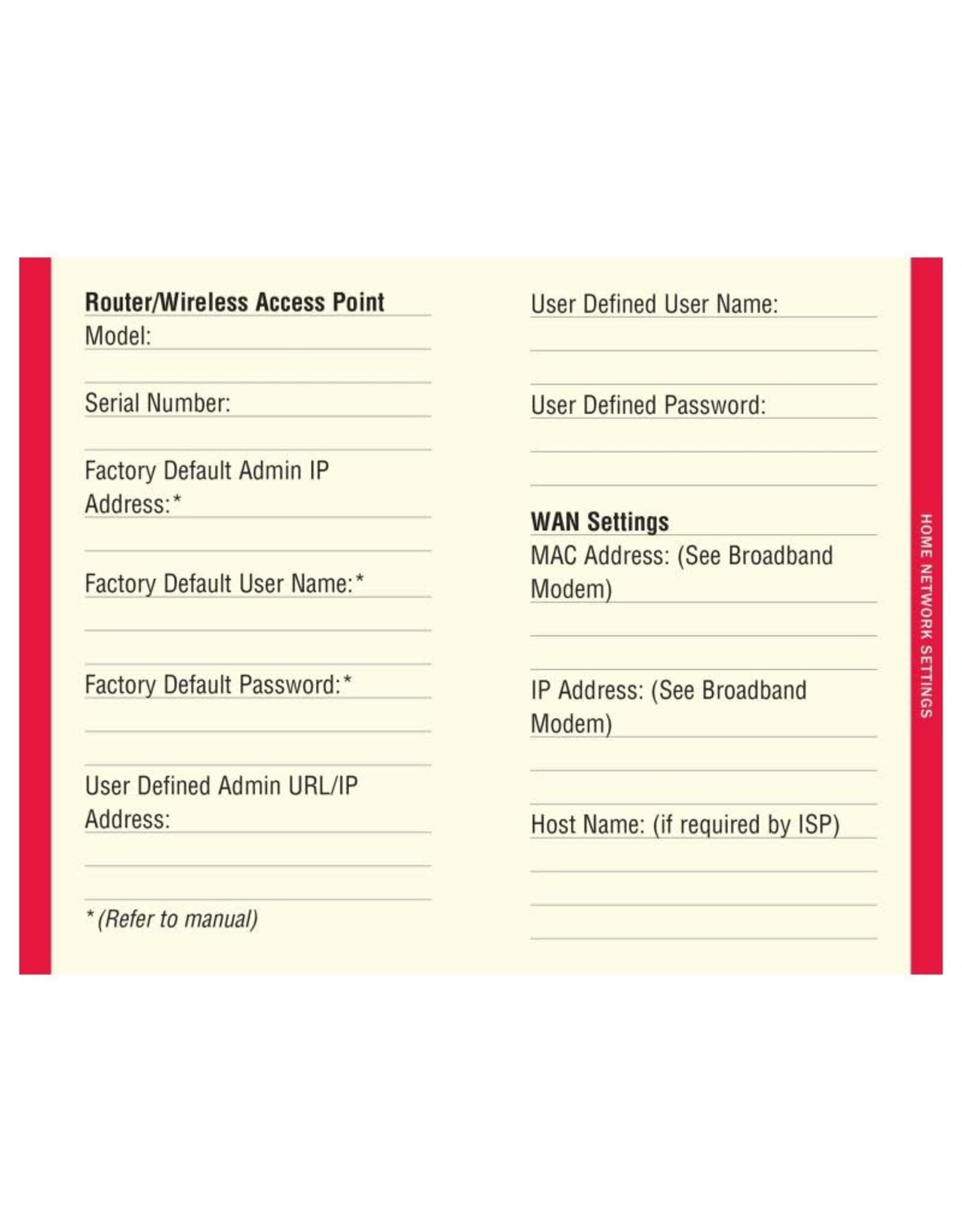 Peter Pauper Internet Address & Password Log, Large Print