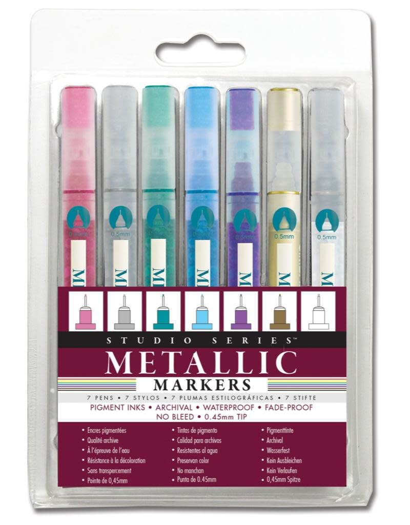 Peter Pauper Micro-Line Metallic Markers