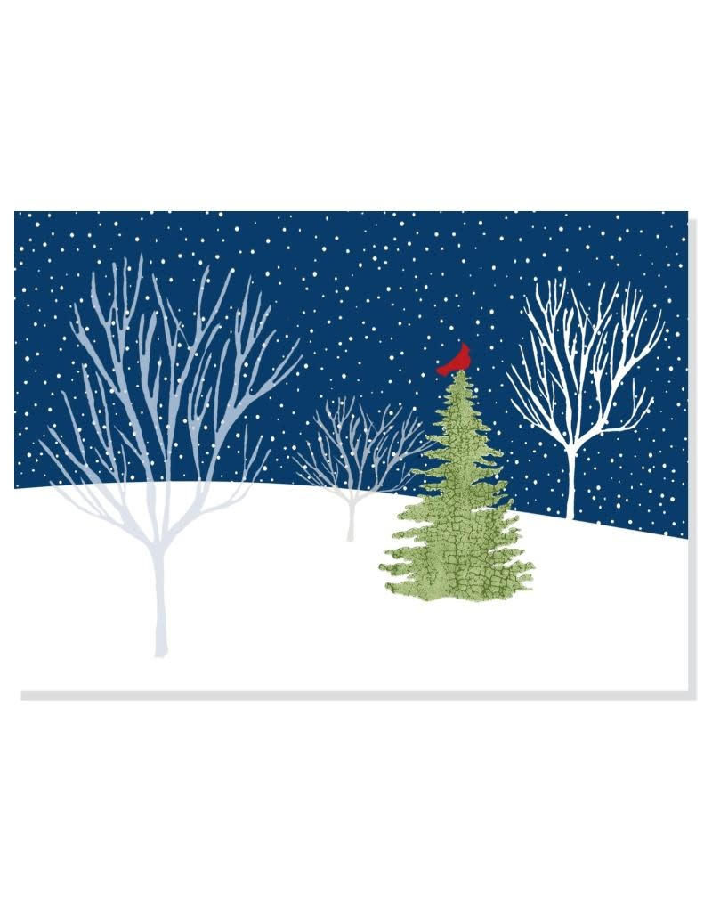 Peter Pauper Midnight Cardinal Deluxe Boxed Holiday Cards