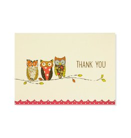 Peter Pauper Perching Owls Boxed Thank You Cards