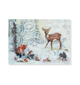 Peter Pauper Snowy Forest Deluxe Boxed Holiday Cards