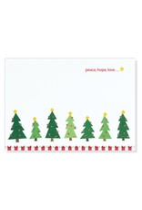 Peter Pauper Sparkly Christmas Trees Boxed Holiday Cards